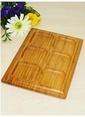 Bordeaux Bambu 6 Bölmeli Sunum Tabağı Renkli